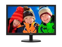 "Philips V-line 223V5LSB2 - LED monitor - 21.5"" - 1920 x 1080 Full HD (1080p) - 200 cd/m² - 600:1 - 5 ms - VGA - textured black, black hairline"