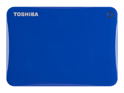 "Toshiba Canvio Connect II - Hard drive - 1 TB - external (portable) - 2.5"" - USB 3.0 - blue - with 10GB free Cloud Backup"