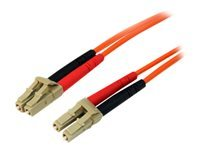 StarTech.com 10m Fiber Optic Cable - Multimode Duplex 50/125 - LSZH - LC/LC - Patch cable - LC multi-mode (M) to LC multi-mode (M) - 10 m - fibre optic - 50 / 125 micron - orange