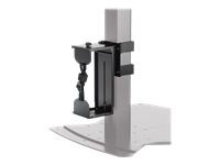 Chief QMP1C - Mounting kit (CPU mount) for CPU - steel - black - for Chief MF1, MFCUB, MFCUB700; MFC Series MFCUS700; Universal Flat Panel Floor Stand MF1U