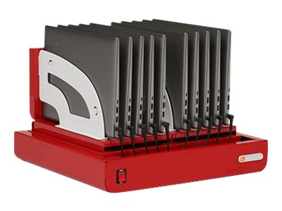 Bretford Cube Micro Tray TVT10AC Cart tray for 10 notebooks/tablets red