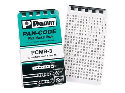 Panduit wire / cable markers book