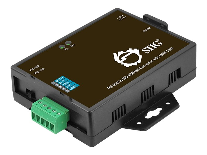 SIIG RS-232 to RS-422/485 Converter with 15KV ESD - serial adapter