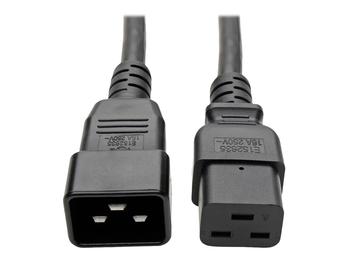 Tripp Lite 6ft Power Cord Extension Cable C19 to C20 Heavy Duty 20A 12AWG 6' - power cable - 1.8 m