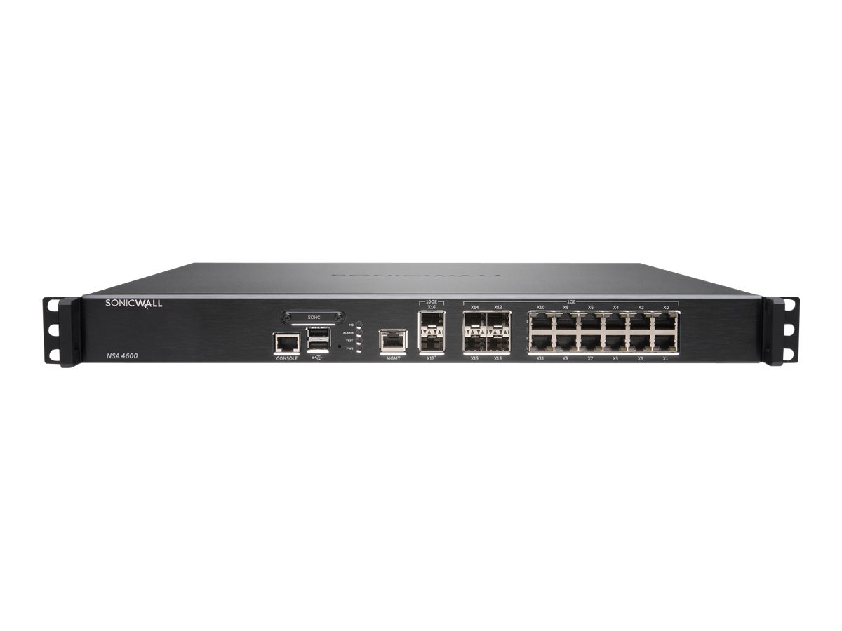 SonicWall NSA 4600 - security appliance - with 3 years SonicWALL Advanced Gateway Security Suite