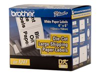 Brother DK1241 White Roll (3.98 in x 4.99 ft) 200) shipping labels
