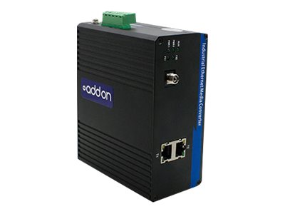 AddOn 1Gbs 2 RJ-45 to 1 FC Industrial Media Converter - fiber media converter - GigE