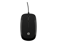 HP X1200 - Mouse - optical - 3 buttons - wired - USB - sparkling black - for OMEN by HP; Envy; ENVY x360; Pavilion; Pavilion Wave; Pavilion x360; Spectre x360