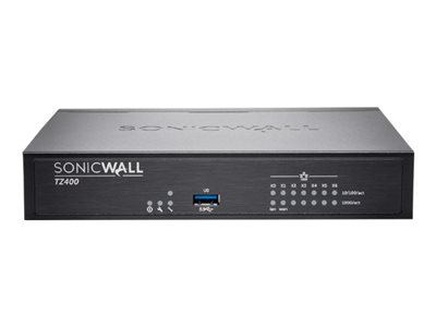 SonicWall TZ400 Security appliance with 3 years SonicWALL Advanced Gateway Security Suite