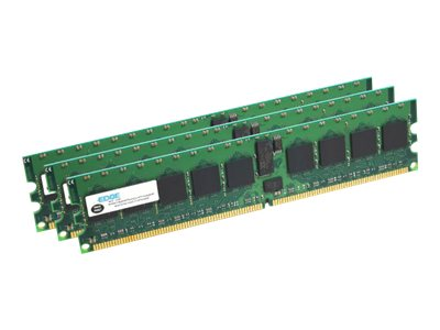 EDGE - DDR3 - kit - 12 GB: 3 x 4 GB - DIMM 240-pin - 1066 MHz / PC3-8500 - unbuffered