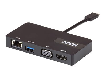 ATEN UH3232 Mini-dock USB-C / Thunderbolt 3 VGA GigE