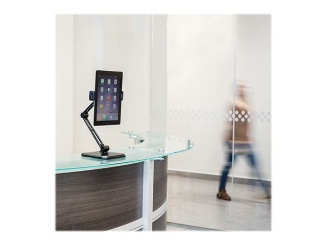 StarTech.com Universal Tablet Stand - Portable Tablet Stand w/ Optional Wallmount Base - Adjustable Pivoting Tablet Stand (ARMTBLTDT)