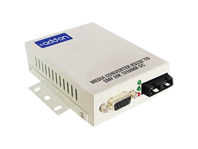 AddOn 500Kbs 1 Serial to 1 SC Med Converter - serial port extender - serial