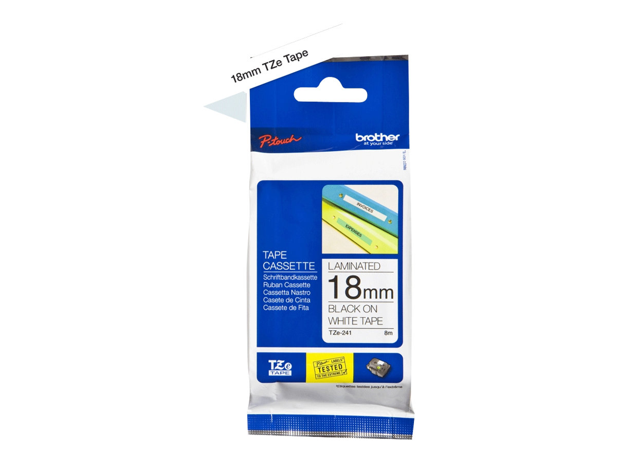 Brother TZe-241 - laminated tape - 1 roll(s) - Roll (1.8 cm x 8 m)