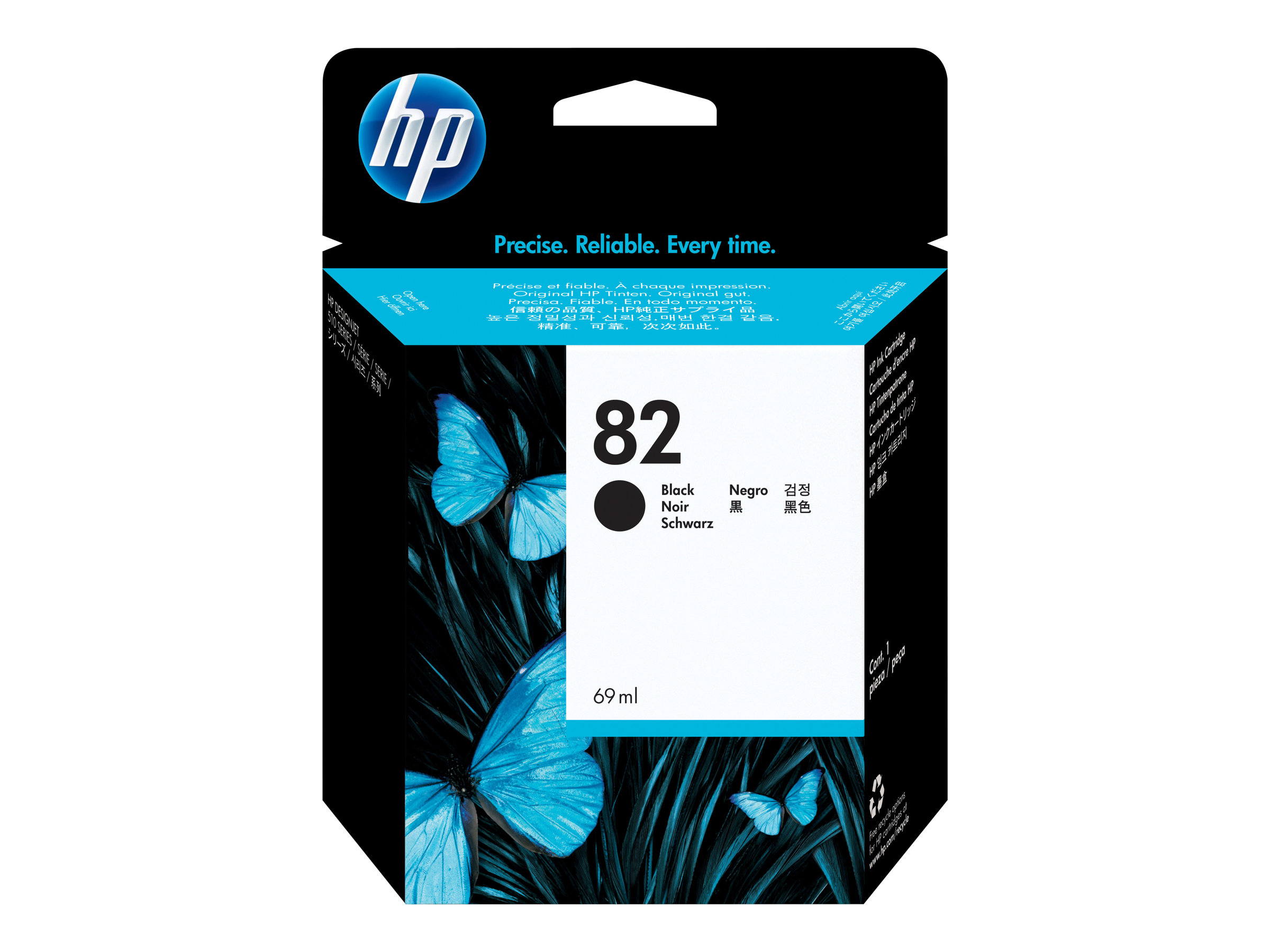 HP 82 - black - original - DesignJet - ink cartridge