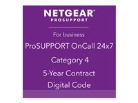 NETGEAR ProSupport OnCall 24x7 Category 4 Technical support phone consulting 5 years 24x7