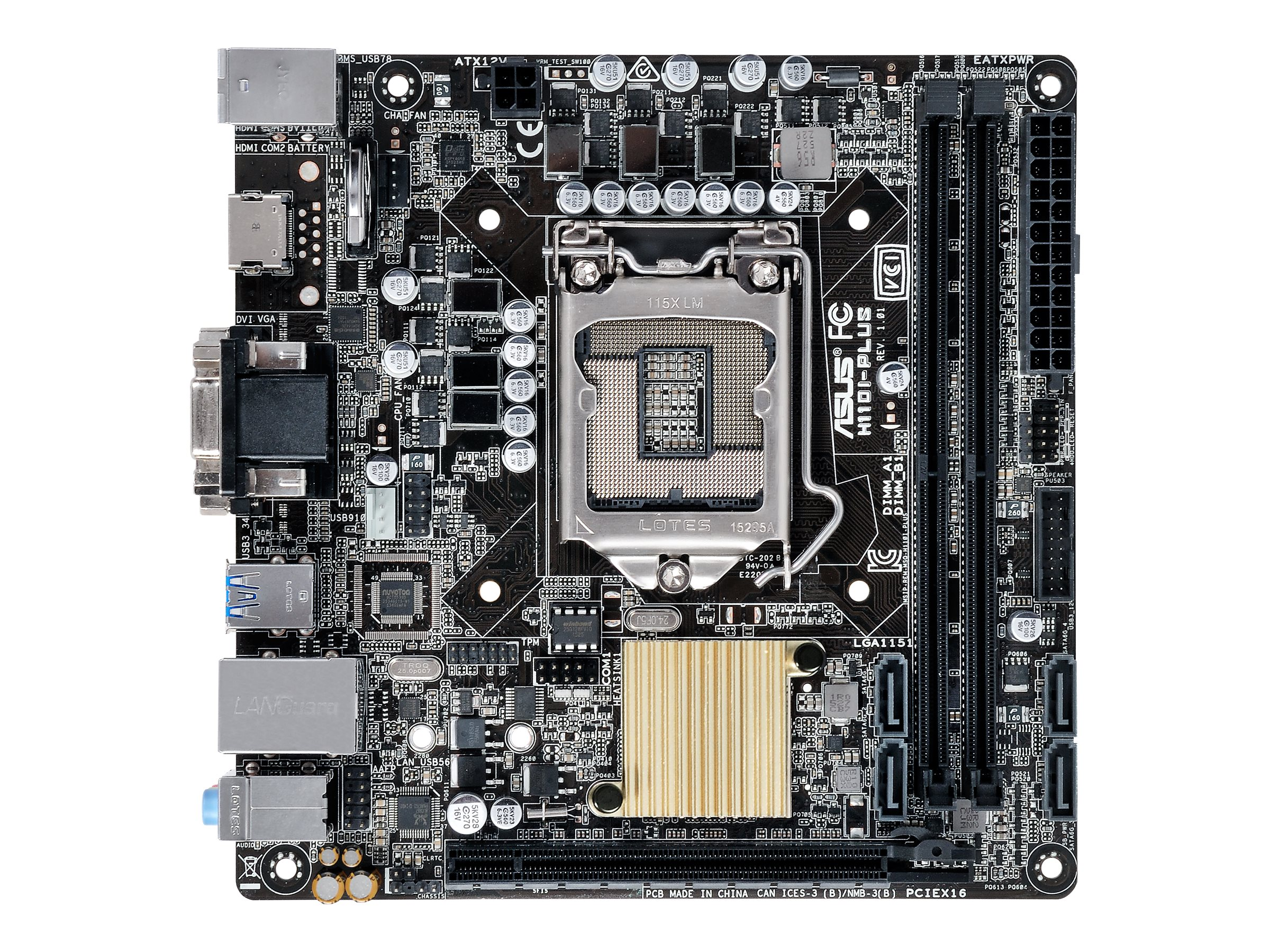 ASUS H110I-PLUS - Motherboard - Mini-ITX - LGA1151 Socket - H110 - USB 3.0