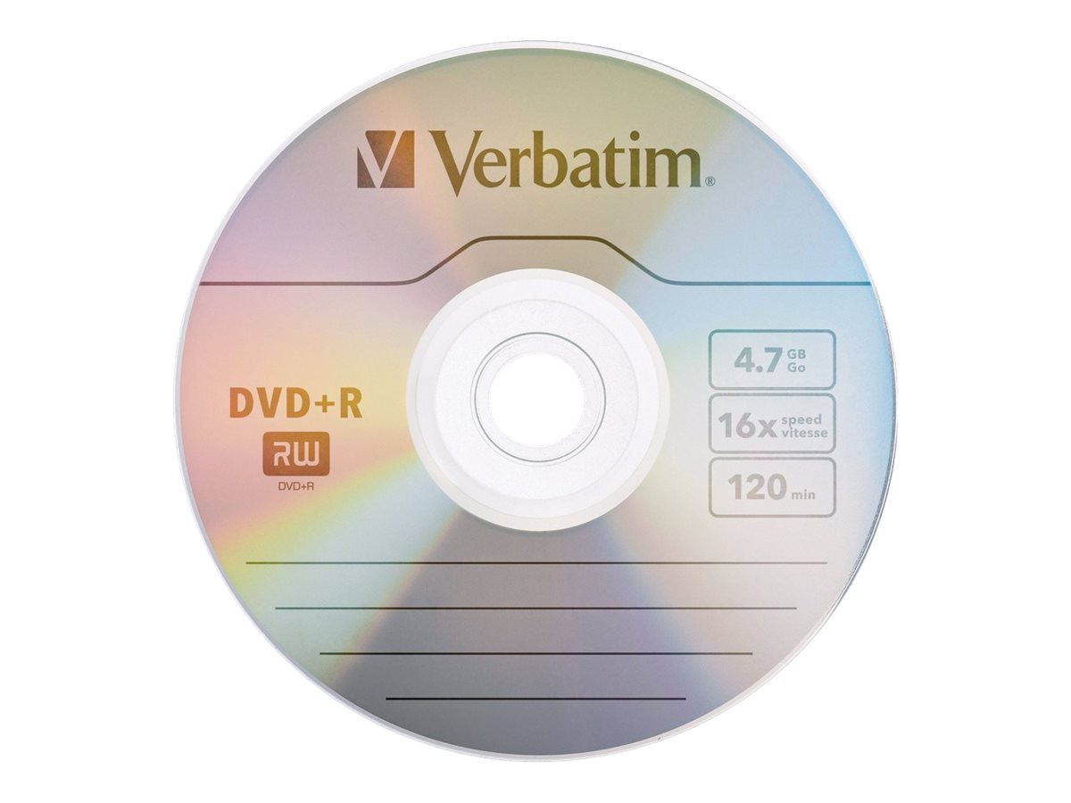 Verbatim - DVD+R x 1 - 4.7 GB - storage media