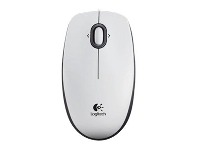 Image of Logitech B100 - mouse - USB - white