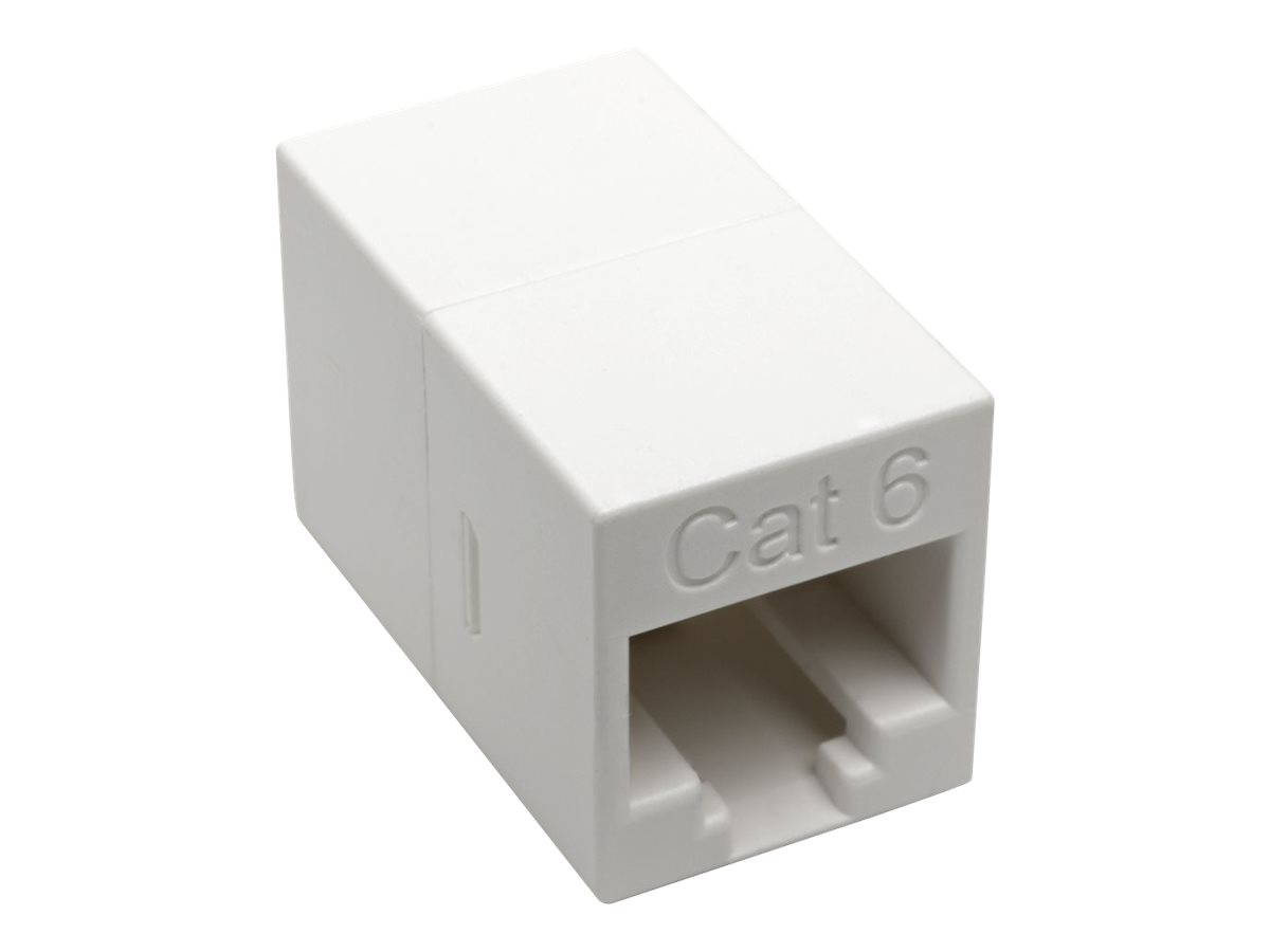 Tripp Lite Cat6 Straight-Through Modular Compact In-Line Coupler (RJ45 F/F), White, TAA - network coupler - TAA Complia…