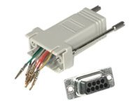 C2G Network adapter RJ-45 (F) to DB-9 (M) gray
