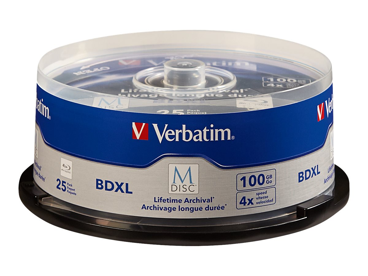 Verbatim M-Disc - BD-R XL x 25 - 100 GB - storage media