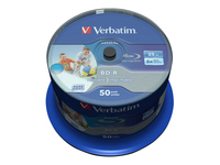 Verbatim DataLife - 50 x BD-R - 25 GB 6x - ink jet printable surface - spindle