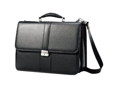 Samsonite Leather Business Flapover Notebook carrying case 15.6INCH black
