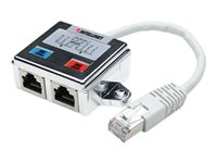Intellinet 2-Port Modular Distributor, Cat5e, FTP, allows two RJ45 ports to share one Cat5e network cable - Netzwerk-Splitter