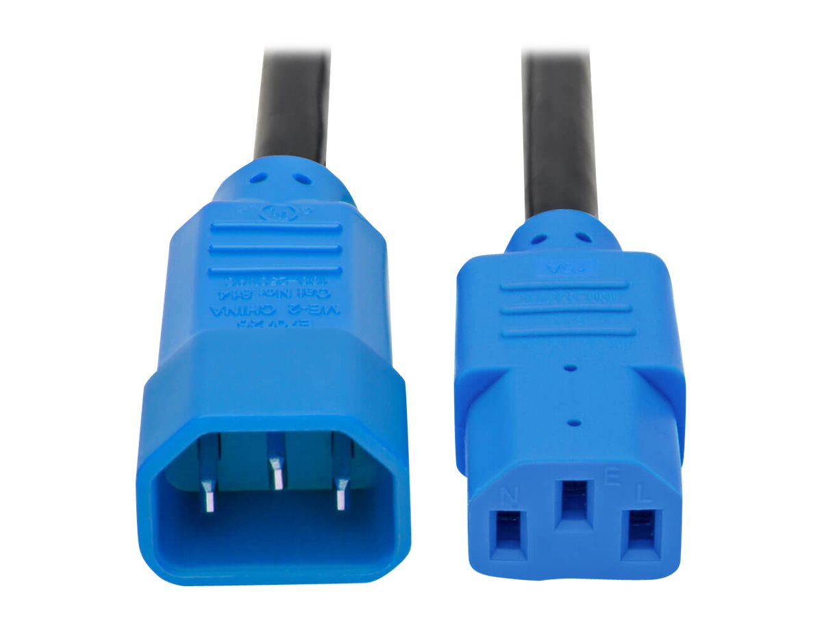 Tripp Lite 6ft Power Cord Extension Cable C14 to C13 Heavy Duty Blue 15A 14AWG 6' - power cable - 1.8 m