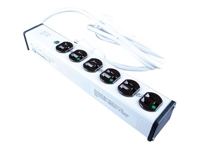 C2G 15ft Wiremold 6-Outlet Plug-In Center Unit Medical Grade Approved For Patient Care 4 Outlet Pow