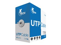 XTECH CAJA CABLE UTP CATEGORiA 5E GRiS DE 305 MTS ALEACION