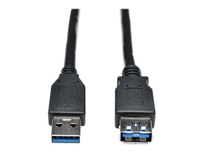 Tripp Lite 6ft USB 3.0 SuperSpeed Extension Cable A Male to A Female Black 6'
