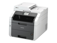Brother MFC-9330CDW - Multifunction printer - colour - LED - Legal (216 x 356 mm) (original) - A4/Legal (media) - up to 22 ppm (copying) - up to 22 ppm (printing) - 250 sheets - 33.6 Kbps - USB 2.0, LAN, Wi-Fi(n), USB host