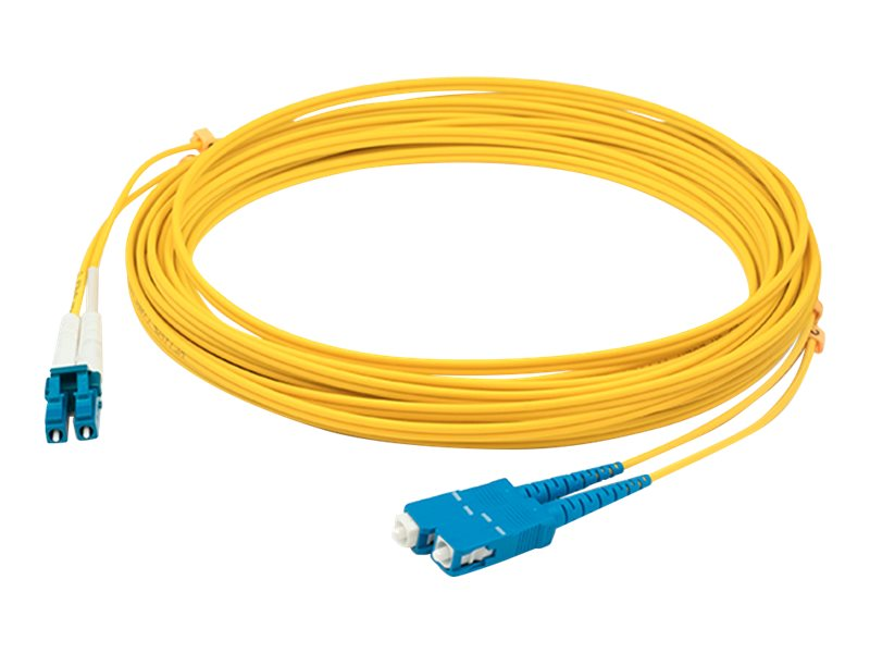 AddOn 1m LC to SC OS1 Yellow Patch Cable - patch cable - TAA Compliant - 1 m - yellow
