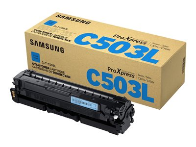 Samsung CLT-C503L High Yield cyan original toner cartridge (SU017A)