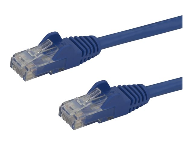 StarTech.com 75ft CAT6 Ethernet Cable, 10 Gigabit Snagless RJ45 650MHz 100W PoE Patch Cord, CAT 6 10GbE UTP Network Cable w/Strain Relief, Blue, Fluke Tested/Wiring is UL Certified/TIA - Category 6 - 24AWG (N6PATCH75BL)