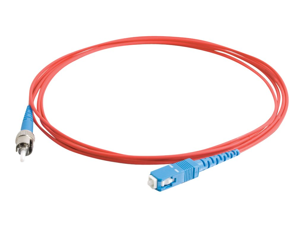C2G 10m SC-ST 9/125 Simplex Single Mode OS2 Fiber Cable - Plenum CMP-Rated - Red - 33ft - patch cable - 10 m - red