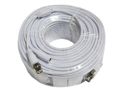 Q-See Power/video cable BNC, DC jack 2.1 mm (M) to BNC, DC jack 2.1 mm 200 ft coaxi