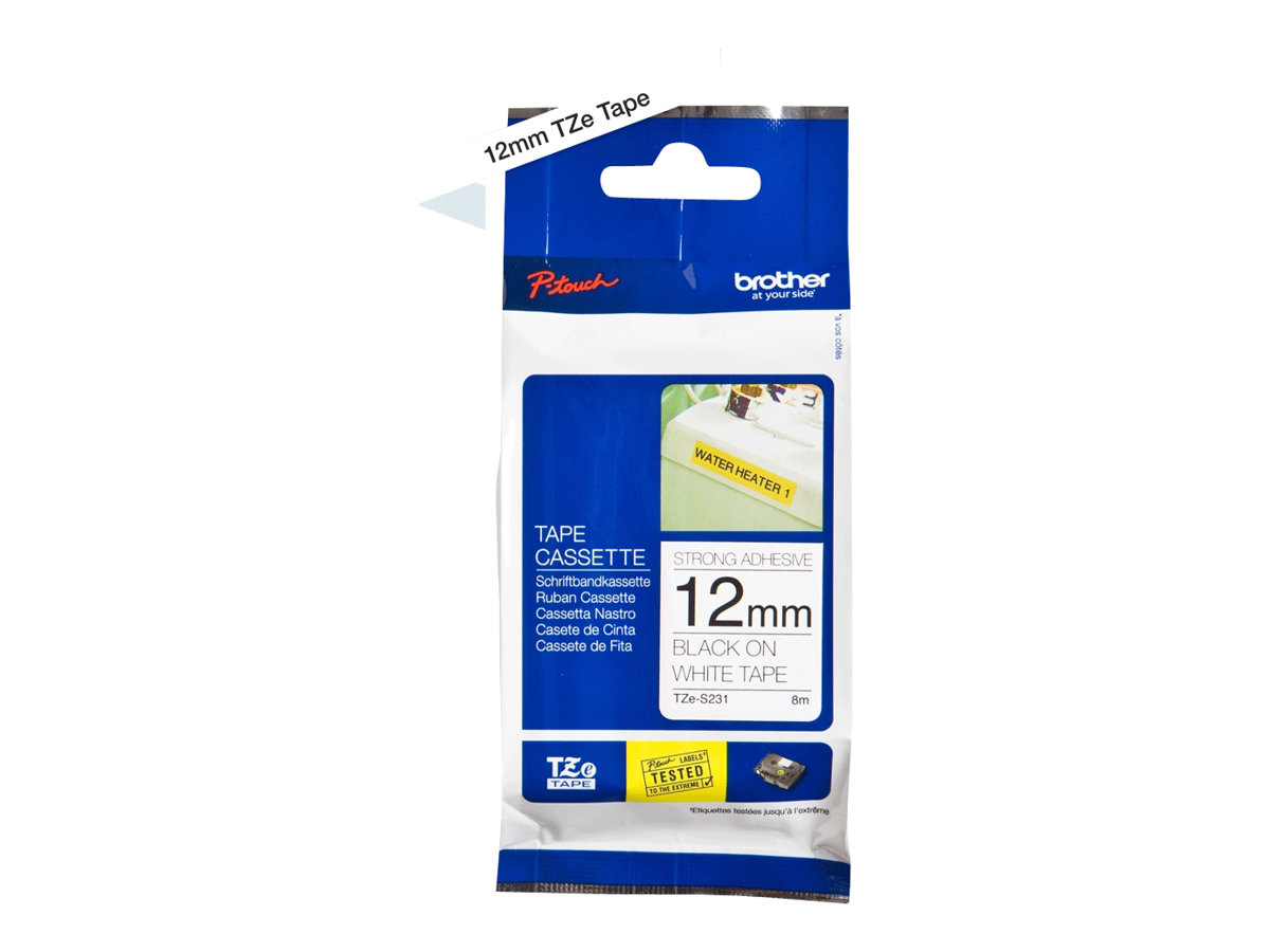 Brother TZe-S231 - laminated tape - 1 roll(s) - Roll (1.2 cm x 8 m)