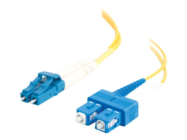 C2G 3m LC-SC 9/125 Duplex Single Mode OS2 Fiber Cable - Yellow - 10ft