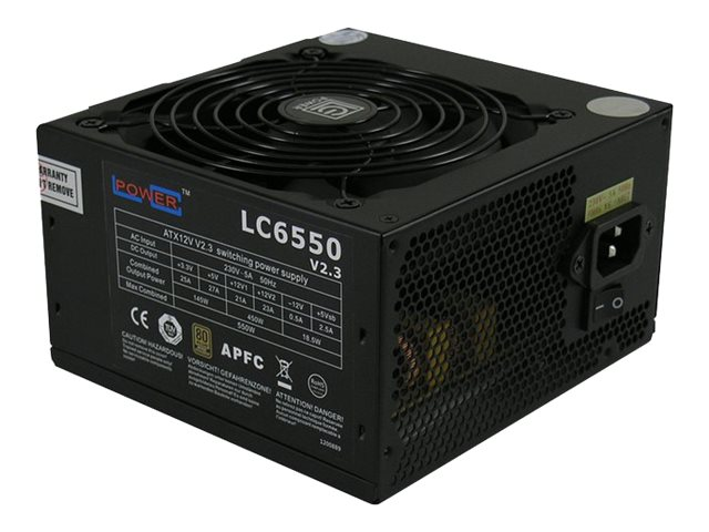 LC Power Super Silent Series LC6550 V2.3 - Stromversorgung (intern) - ATX12V 2.3 - 80 PLUS Bronze - Wechselstrom 230 V - 550 Watt
