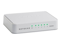NETGEAR GS205 - Switch - unmanaged - 5 x 10/100/1000 - desktop