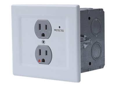 Chief SurgeX 20A Bottom Mounted Surge Eliminator With Remote Control Surge protector AC 125 V