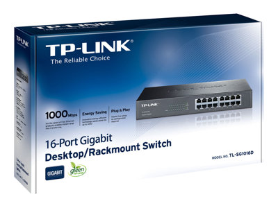 TP-LINK TL-SG1016D 16-Port Gigabit Switch - commutateur - 16 ports - non géré