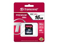 Transcend - Carte mémoire flash - 16 Go - Class 10 - SDHC
