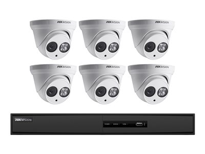 Hikvision I7608N2TP NVR + camera(s) wired GbE 8 channels 1 x 2 TB 6 camera(s) dome