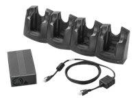 Zebra 4-Slot Charge Only Cradle Kit - handheld charging stand + power adapter