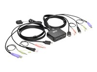 Tripp Lite 2-Port USB/HD Cable KVM Switch with Audio/Video, Cables and USB Peripheral Sharing