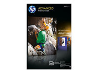 HP Advanced Glossy Photo Paper - Glossy - 100 x 150 mm - 250 g/m² - 100 sheet(s) photo paper - for Deskjet 2050 J510; Officejet 6000 E609, 7500; PageWide MFP 377; PageWide Pro 452